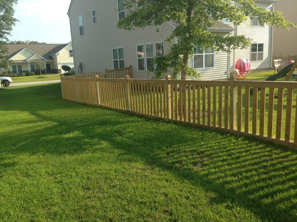 4 foot wood fences cs fences charleston wood aluminum fences 4 baanklon Images