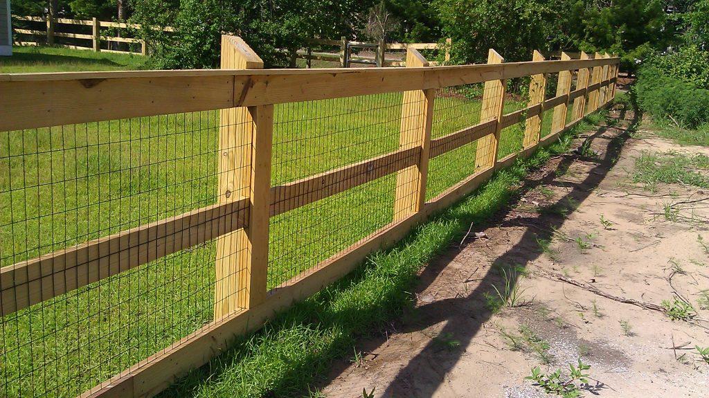 4 Foot Wood Fences CS Fences Charleston Wood Aluminum Fences