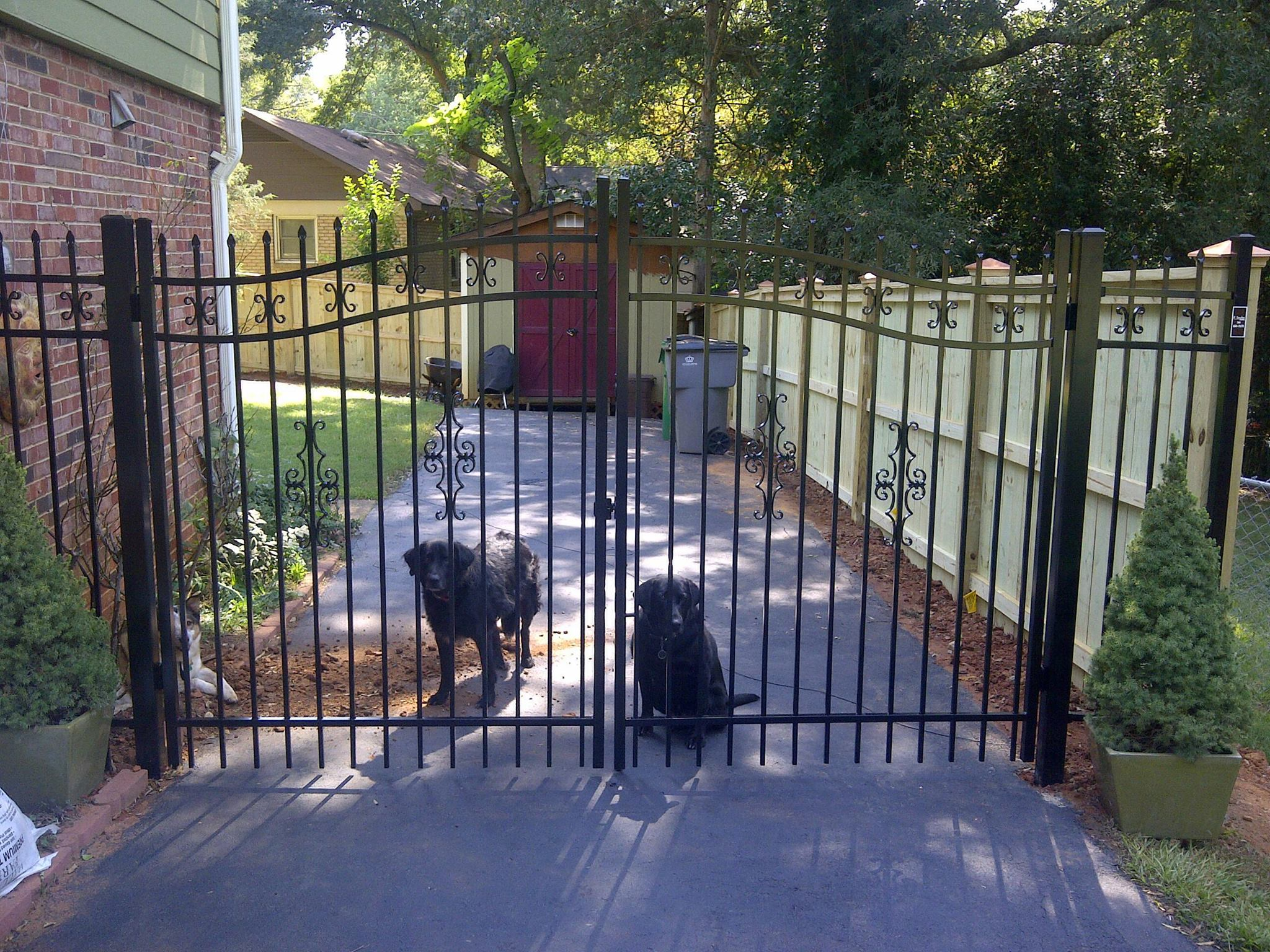 Our Fences Cs Charleston Wood Aluminum Fence 8 2 Butterfly New